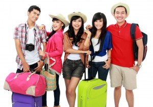 tour group tourist stock photo